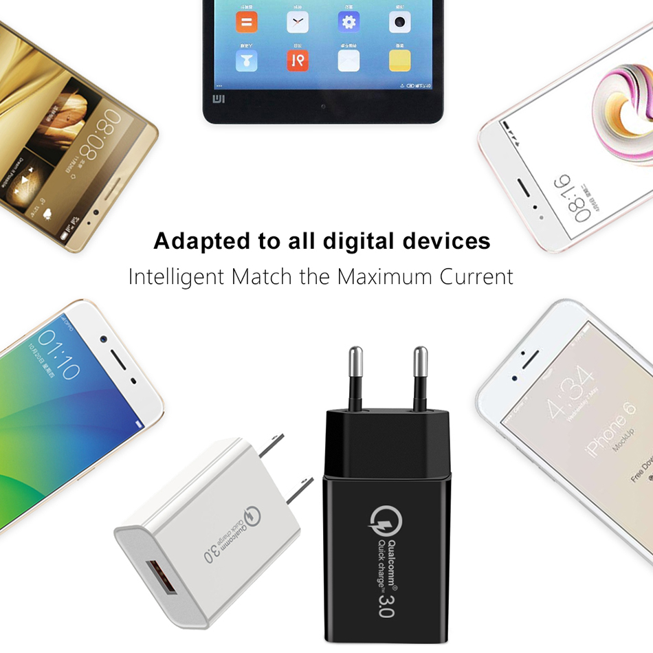 18W cargadores de celular carga rapida Fast Charger QC 3 0 For Xiaomi Redmi note 7 7 pro Xaomi Redmi 7 K20 Pro Quick Charge 3 0 in Mobile Phone Chargers from Cellphones Telecommunications