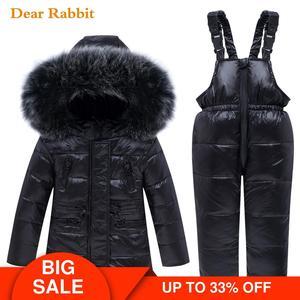 Image 1 - 2020 new Winter Baby Boy Girl clothing Set warm Down Jacket coat Snowsuit Children parka Kids Clothes Ski suit Overalls overcoat
