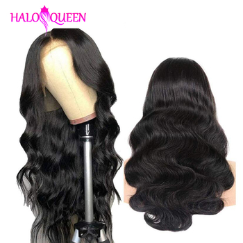 HALOQUEEN Wigs 13X4 Lace Frontal Human Hair Wigs Peruvian Body Wave Pre-Plucked Baby Non-Remy Hair Lace Frontal Human Hair Wigs peruvian water wave lace front human hair wigs lace frontal wigs 13x4 pre plucked natural hairline 150% remy bob wigs