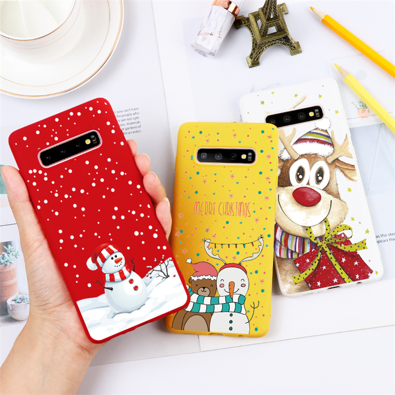 Merry Christmas Gift Matte Case For <font><b>Samsung</b></font> Galaxy J4 J6 J8 A6 Plus A7 A8 <font><b>A9</b></font> 2018 J3 J5 J7 J2 Prime A3 A5 A7 2017 <font><b>2016</b></font> TPU Cover image