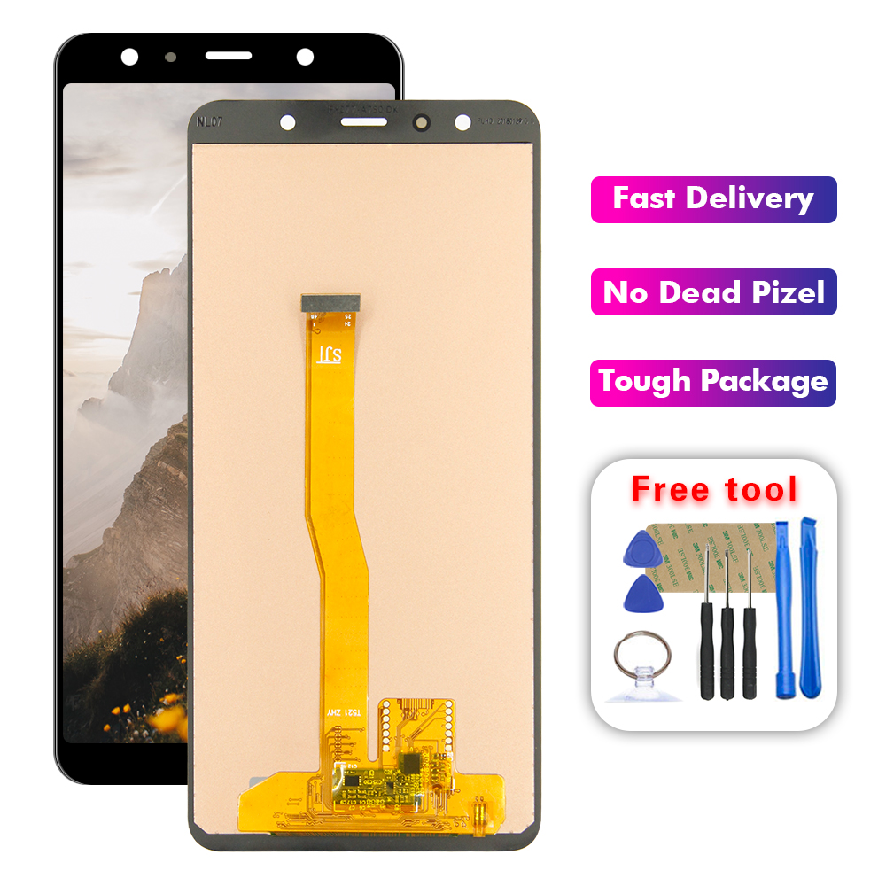 6.0'' LCD For <font><b>Samsung</b></font> <font><b>Galaxy</b></font> <font><b>A7</b></font> <font><b>2018</b></font> A750 SM-A750F A750F <font><b>Display</b></font> With Touch Screen Assembly +Frame image