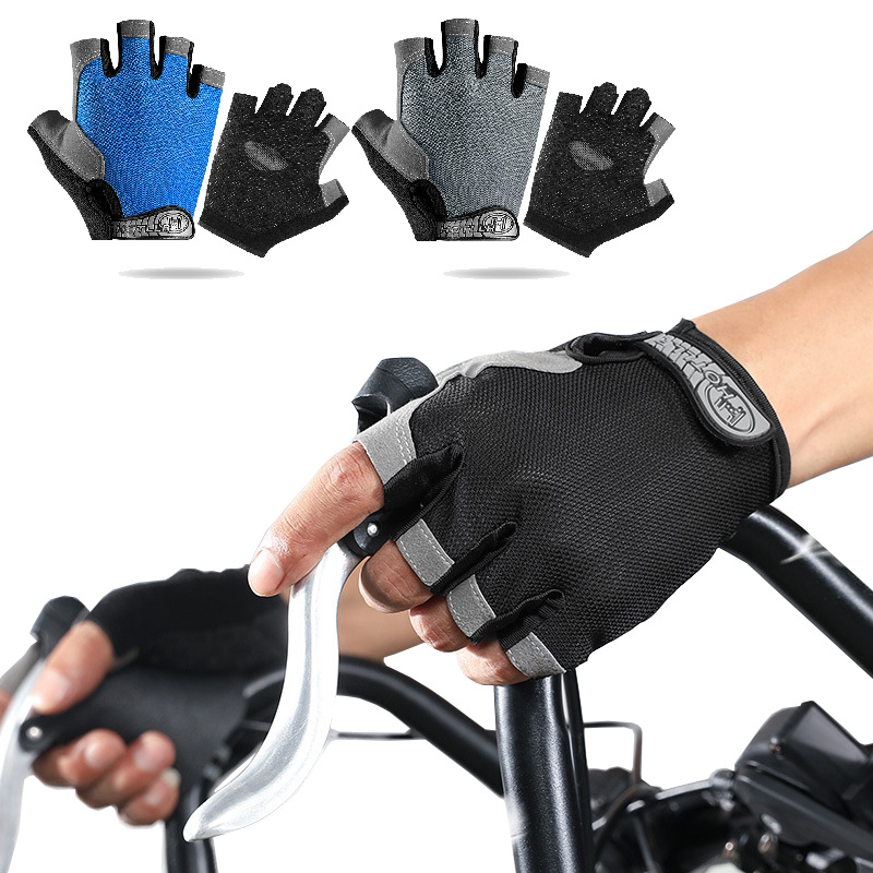 Cycling gloves non-slip anti-sweat bicycle half-finger gloves camping fishing rescue tool gloves weightlifting fitness gloves image