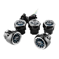 5Pcs Air Vent Led Ambient Light Turbine Outlets Lamp 64 Color For Mercedes Benz