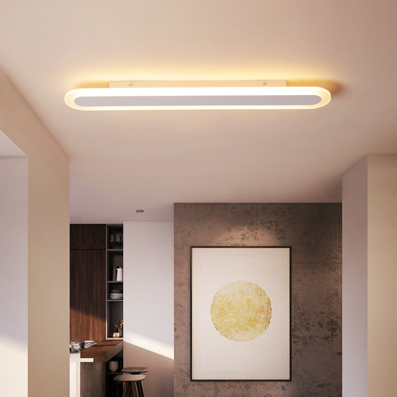 Browm/White Modern Led Ceiling Lights For Study Room Bed Room Kitchen Office Lighting Led Techo Hardware+Acrylic Ceiling Lamp