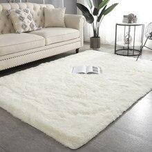 Nordic Fluffy Carpet For Bedroom Living Room Large Size Plush Anti-slip Soft Door Mat White pink Red Children's Rugs For Room