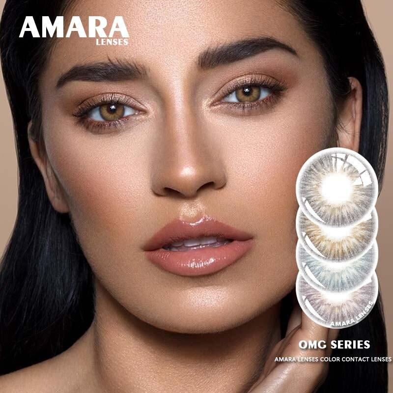 Линзы AMARA серия OMG, контакты коричневого глаза для красивого зрачка