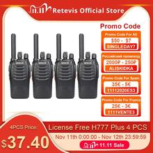 Walkie Talkie 4pcs Retevis H777 Plus PMR446 Walkie Talkies PMR Radio FRS H777 Handy Two Way Radio Station USB Charging For Hotel
