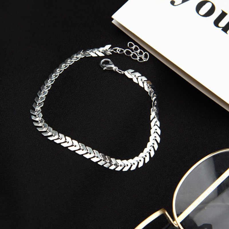 Распродажа, для женщин, сексуальные Металлические стрелки, блестящие цепочки, ножные браслеты, пляжные сандалии, цепочка из змеиных костей, браслет, бижутерия для ног