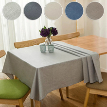 Solid Tablecloth Kitchen Table Linen Multi Color Decorative Table Cover Waterproof Oilproof Thick Rectangular Tea Table Cloth multi functional lifting table fold the tea table storage table tea table
