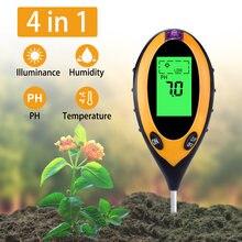 4 в 1 рН тест er почвы воды влаги ЖК светильник измеритель температуры