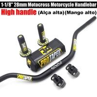 "High handle Handlebar For PRO Taper Pack Bar 1 1/8"" Handle bar Pads Grips Pit Pro Racing Dirt Pit Bike Motorcycle CNC 28.5mm|Handlebar|   -"
