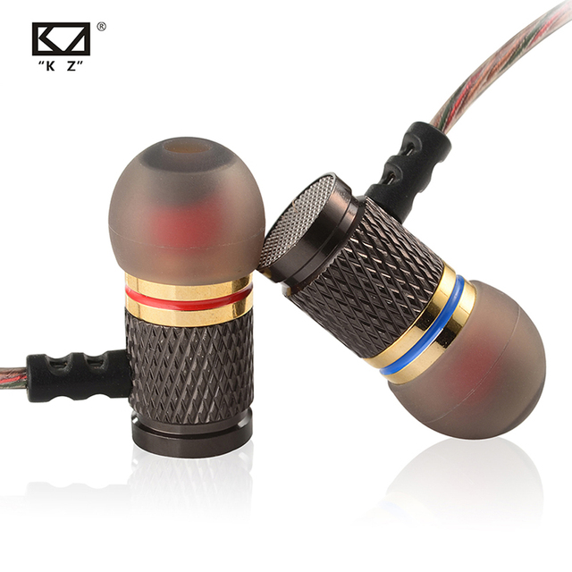 KZ EDR1/ED2 Metal In Ear Earphone Noise Cancelling Gold Plated Earbuds Fever Heavy Bass HiFi Earpiece With Microphone