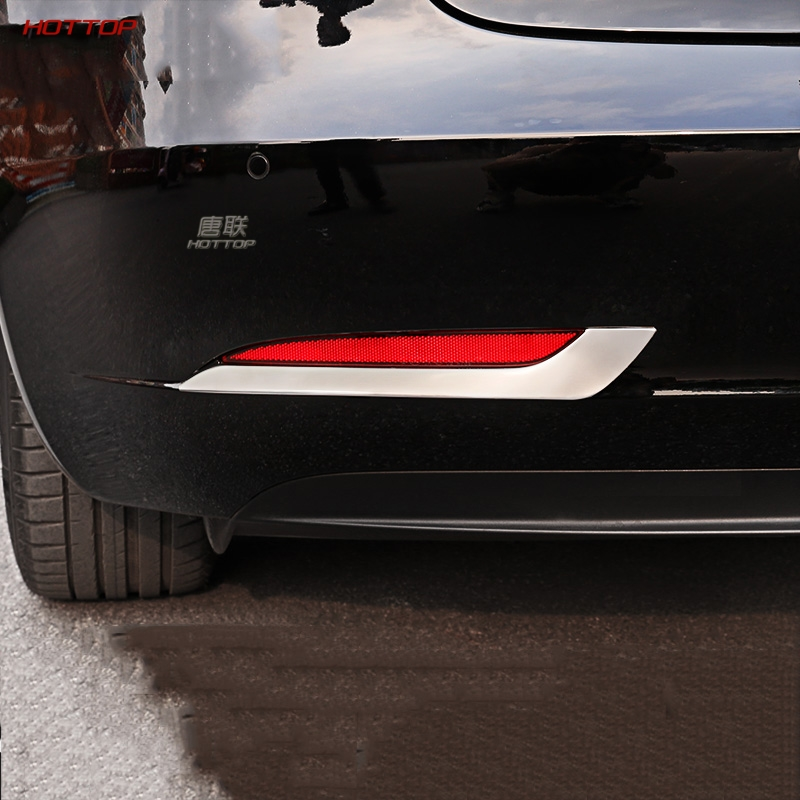 My Good Car Rear Fog Light Frame Decoration Bright Strip Sequins For Tesla Model 3 Car Accessories