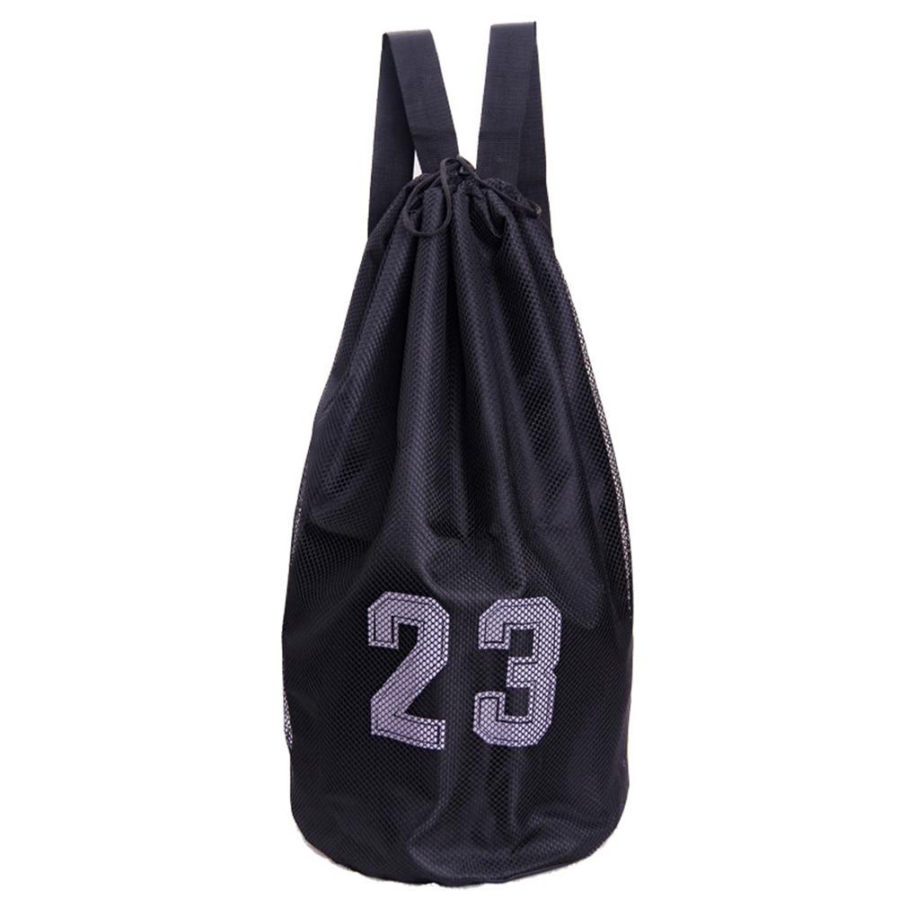 Inner Pocket Wear Resistant Training Volleyball Mesh Backpack Football Soccer Basketball Bag Drawstring Lock Large Capacity