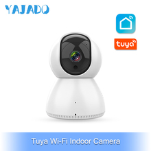 YAJADO Tuya WiFi Indoor Camera Baby Monitor Intercom 720P&1080P HD IP Camera Rotation Night Vision Function APP Remote Control