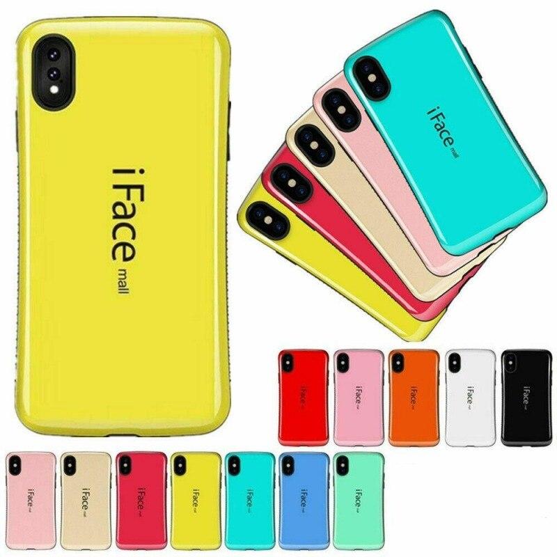 Funda a prueba de golpes para Iphone 11 PRO XS funda Max XR Iface centro comercial mosaico curvo cubierta de plástico antideslizante para IPhone 11 XS carcasa para Max XR