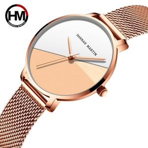 Image 2 - Женские часы топового бренда, роскошные японские кварцевые наручные часы, индивидуальная из нержавеющей стали с Соединенным циферблатом