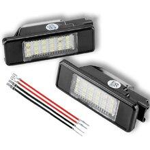 цена на 2Pcs LED License Number Plate Light For PEUGEOT 3008 508 307 106 407 1007 607 508 406 207 308 406 CITROEN C2 C3 C4 C5 C6 C8 DS3