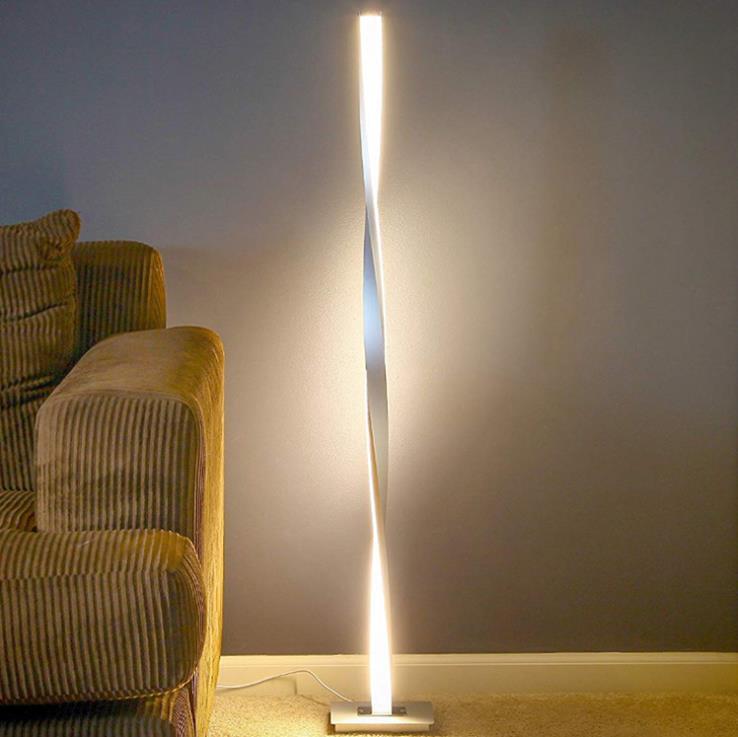 argent ligne simple lampadaire led maison intelligente gradation lampadaire chambre salon eclairage personnalise