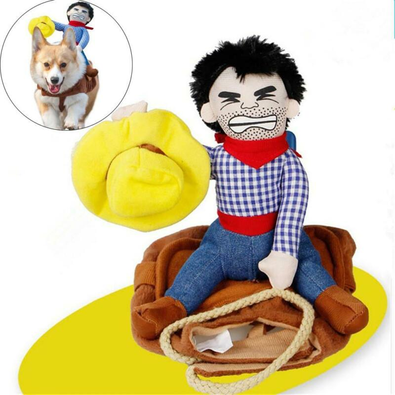 <font><b>Dog</b></font> <font><b>Dresses</b></font> Pet Cowboy Rider Clothes Puppy Transform <font><b>Dress</b></font> <font><b>Dog</b></font> Costume Jacket <font><b>Dress</b></font> Up S-XL image