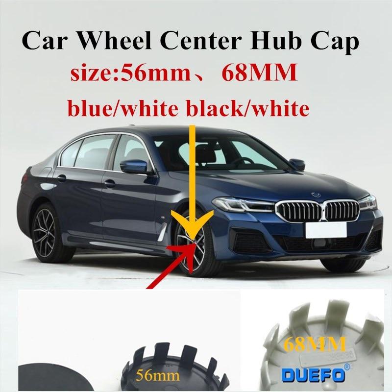 4 шт. 56 мм 68 мм автомобильный черный/белый колпачок на ступицу колеса Эмблема для BM E46 E39 E38 E90 E60 E36 F30 F30 E34 F10 E92 E38 E91