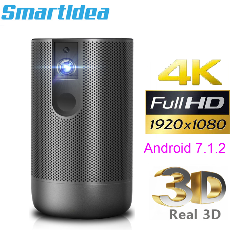 Smartldea D29 native1920x1080 Full HD Projector Android 7 0  2G 16G  5G wifi DLP Proyector support 4K 3D ZOOM video game Beamer