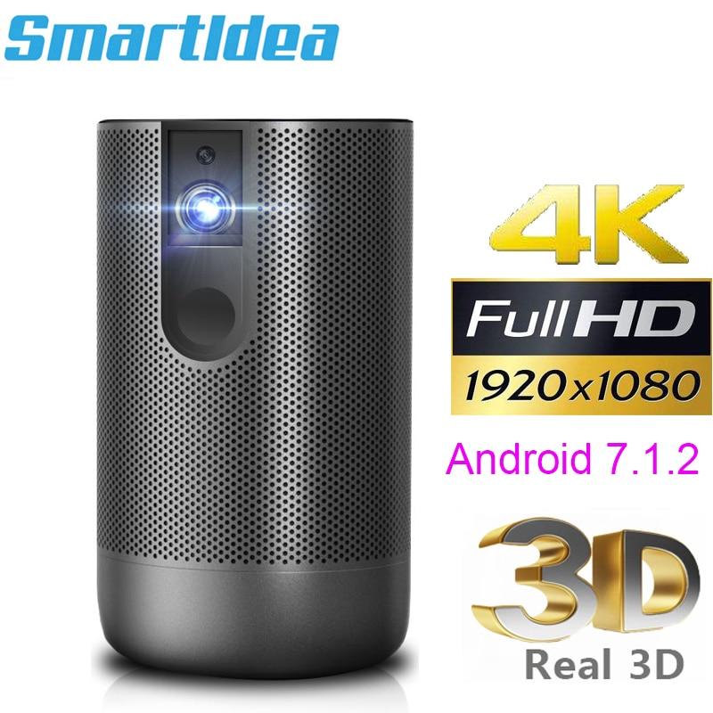 Smartldea d29 native1920x1080 projetor hd completo android 7.0 (2g + 16g) 5g wifi dlp proyector suporte 4k 3d zoom jogo de vídeo beamer