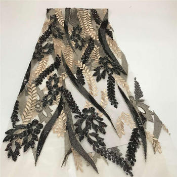 African Sequins Lace Fabric 2020 High Quality Lace French Sequence Tulle Lace Nigerian Lace Fabrics For Wedding RFMAY256