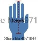 Masculino mão esquerda direita partículas luvas masculino