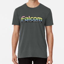 Nihon Falcom T-shirt Falcom Nihon Falcom Logo Ys X68000 Msx Japan Gaming Arcade Rpg(China)