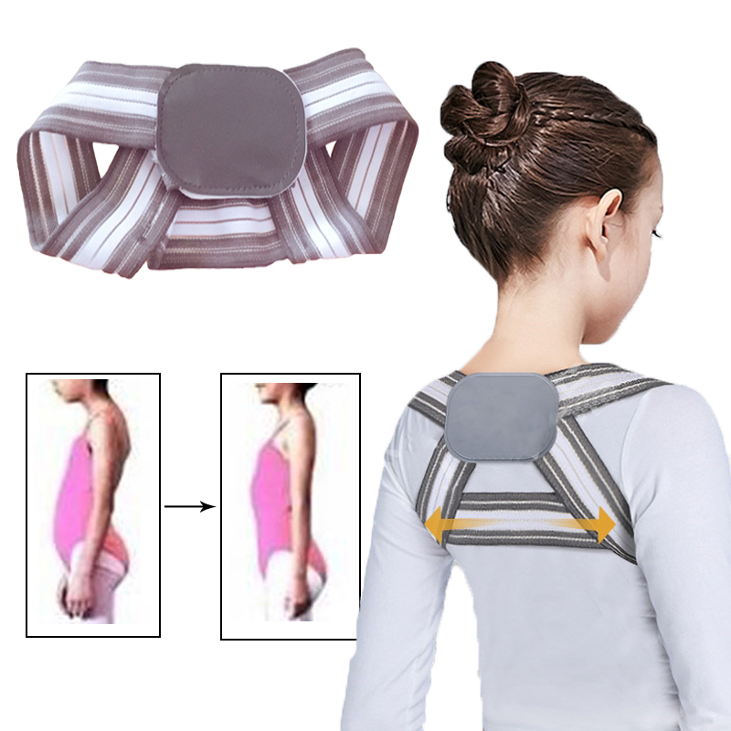 Adjustable Posture Corrector Shoulder Back Brace Belt Clavicle Spine Lumbar Support Orthotics Health Care For Children Adult