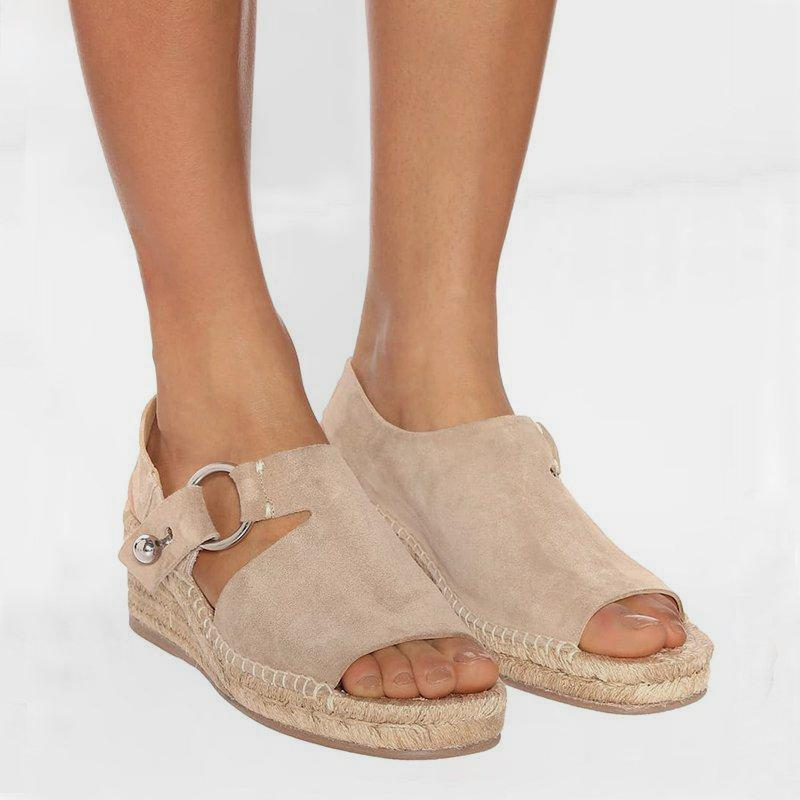 JODIMITTY Wedges Shoes Espadrille Sandals Sandalia-Feminina Femme Summer Women Chaussures title=