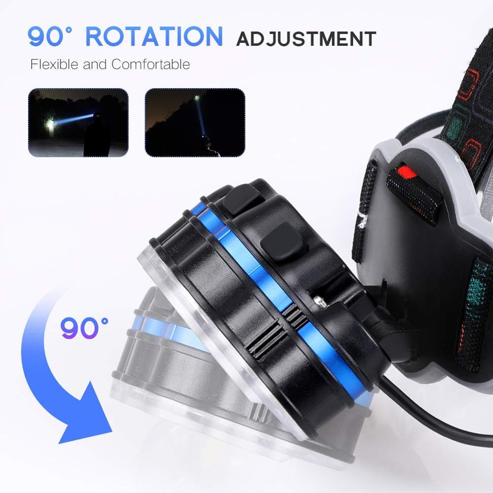 cheapest 400000 Lumens XHP90 3 High Powerful LED flashlight led torch usb Rechargeable 18650 26650 flash light XHP90 XHP70 XHP50 Lantern