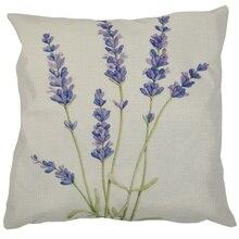 Бледно-лиловый льняная Подушка Чехол автомобиля диван-кровать талии подушка чехлы для дома-декор 18 Дюймов Шесть бледно-лиловый