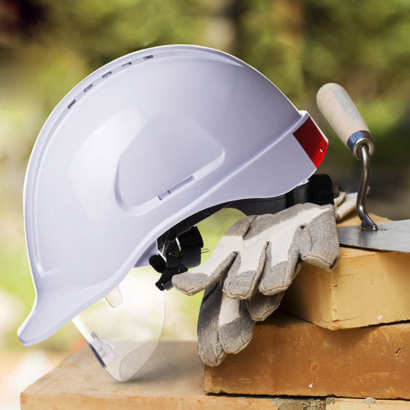 Safety Helmet With Protective PC Glasses ABS Construction Helmets Work Cap Engineering Power Rescue Helmet Working Hard Hat