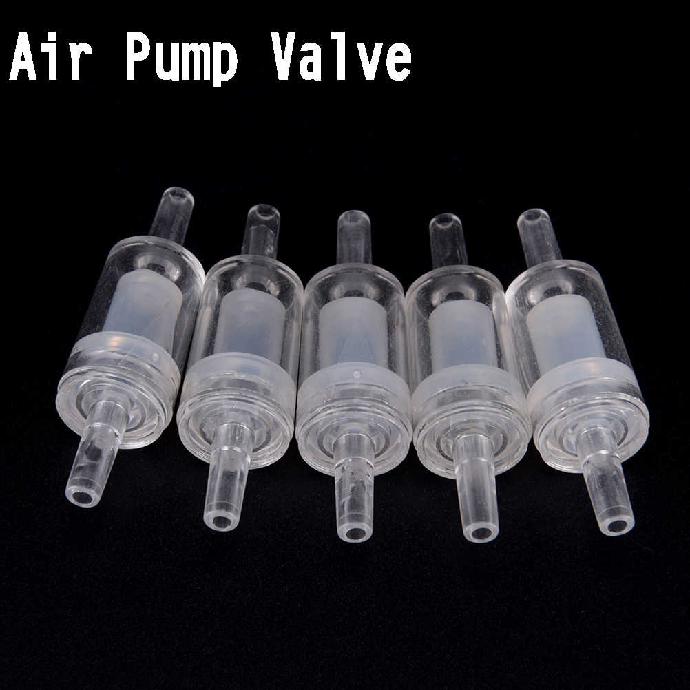5 Pcs Thuis Vis Aquarium Luchtpomp Terugslagklep 5 X One Way Non-Return Controleer Valve Aquarium Transparante wit Luchtpomp