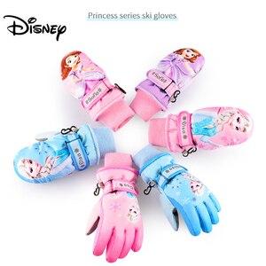 Image 1 - Disney Trẻ Em Frozen 2 Găng Tay Ngoài Trời Dành Cho Trẻ Em Chống Nước Trượt Tuyết Mùa Đông Giữ Ấm Hình Công Chúa Elsa Hoạt Hình Bé Gái Tặng 4 10 Y