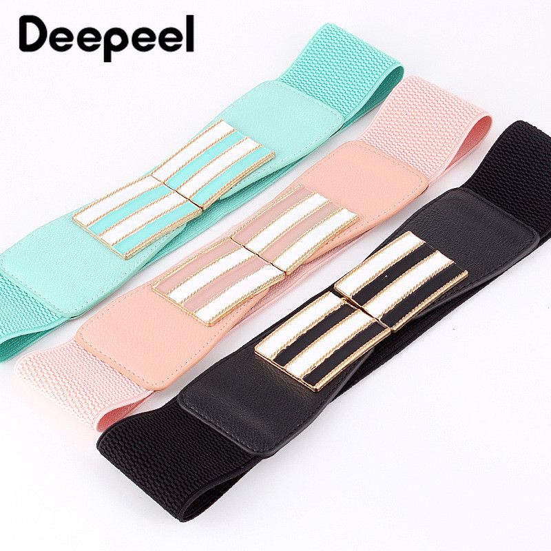 Deepeel 1pc 2.5*65cm New Fresh Fashion Decorative Cummerbunds Elastic Waistband Skirt Wild ElasticBand Candy Color Belt CB054