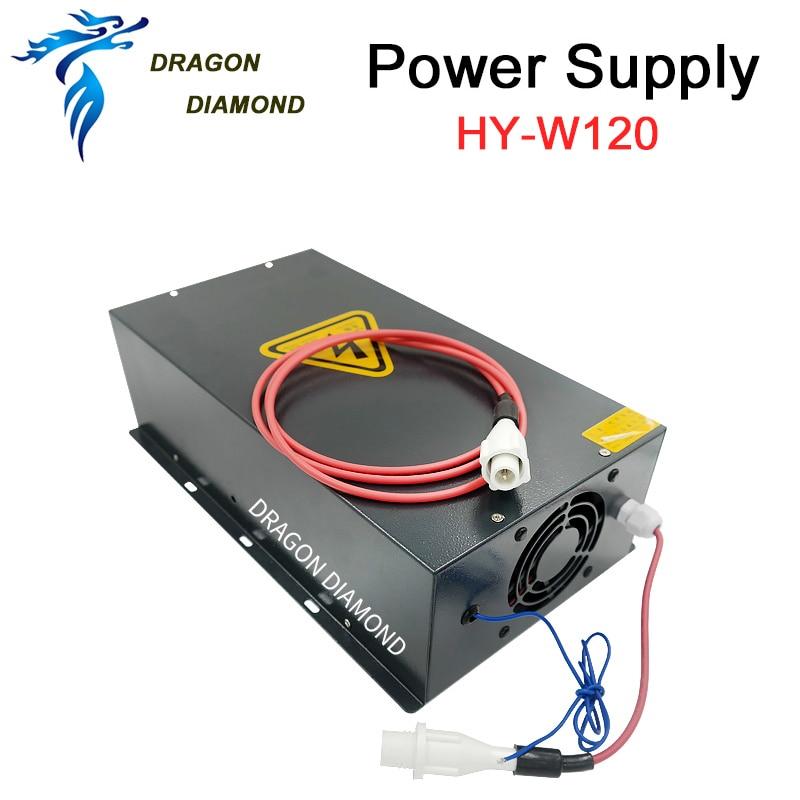 Fuente de alimentación láser de CO2 HY-W120 120W adecuada para tubo láser de CO2 de 100 a 120W para máquina de grabado y corte láser de CO2