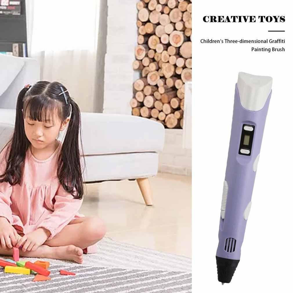 3D Stereoscopische Doodler Printing Pen Groot Scherm Voor Kid Kind Onderwijs Hobby Speelgoed Ontwerp Tekening