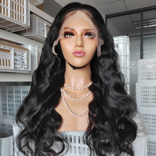 Parrucca frontale in pizzo 360 parrucche brasiliane a densità 150% per capelli neri per donne nere Pre pizzicate con parrucche per capelli umani Remy