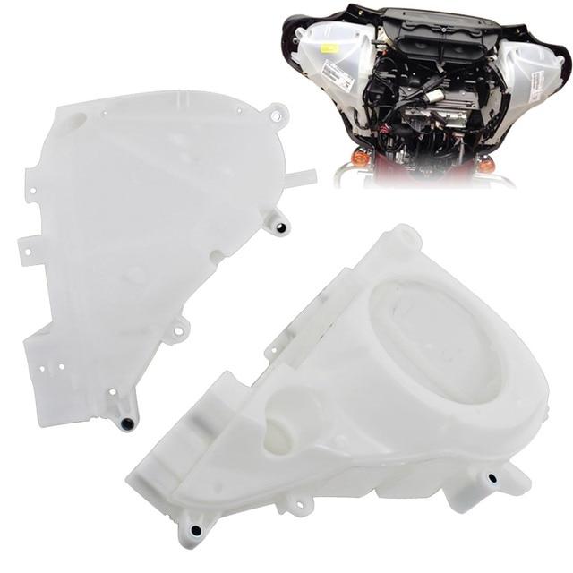 Motorcycle White Inner Fairing Speaker Covers For Harley Street Glide Electra Glide Ultra Limited Trike Glide 2014 Later