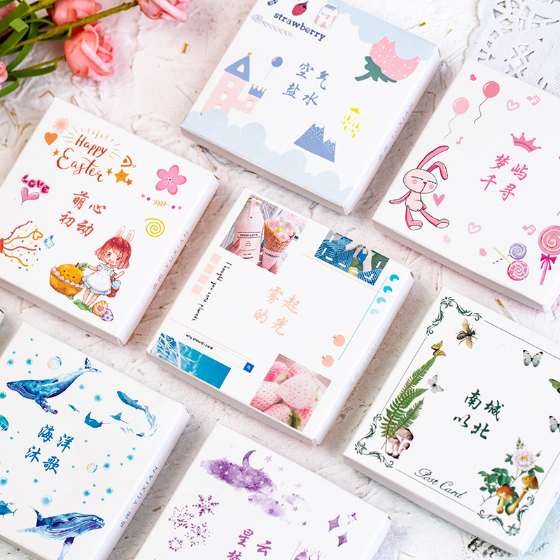 50 Sheets/pack Fairy Worlds Ocean Decorative Washi Stickers Scrapbooking Stick Label Diary Stationery Album Stickers Labels
