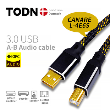Canare HIFI USB Cable DAC A-B Alpha OCC Digital AB Audio A to B high endType A to Type B Hifi Data Cable 1