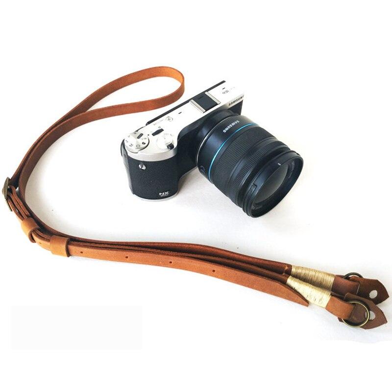 Retro Camera Neck Strap Leather hand made High Quality SLR Camera Strap Durable adjustable Camera Sling