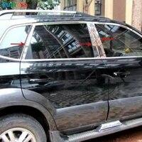 Para Hyundai Tucson 2005-2010 Janela Do Carro de Aço Inoxidável Pilar Pós Tira de Cobertura Guarnição Etiqueta Styling Acessórios do Exterior 8pcs