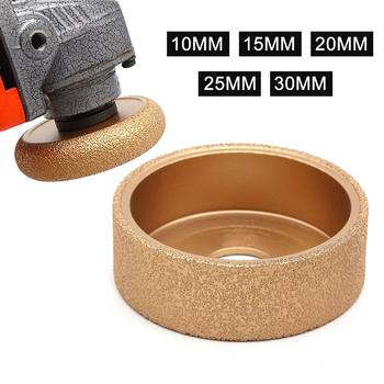 10/15/20/25/30mm Round Flat Brazing Diamond Grinding Wheel for French side fillet stone edging wheel