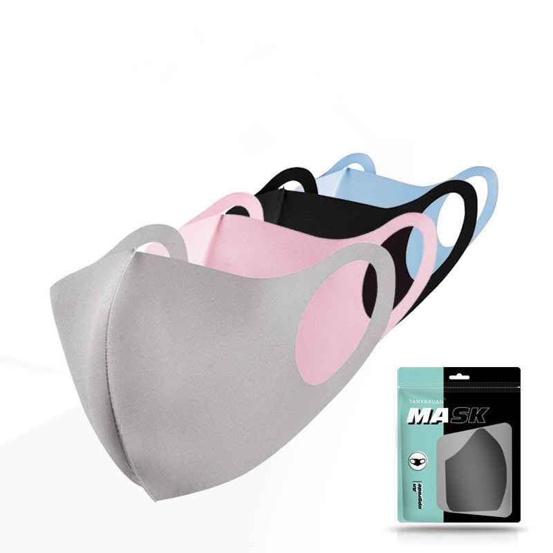 1pc Reusable Unisex Ice Cotton Masks Cotton Blend Anti Dust And Nose Protection Face Mouth Mask Fashion
