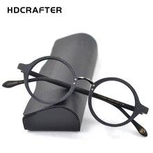 HDCRAFTER Optik Gözlük Çerçevesi Erkekler Yuvarlak Ahşap Şeffaf Lens Gözlük Çerçeveleri Reçete Tarifi Erkekler okuma gözlüğü Gözlük