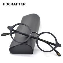 HDCRAFTER Optische Gläser Rahmen Männer Runde Holz Klare Linse Brillen Rahmen Rezept Rezept Männer Lesebrille Brille